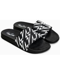 Happy Socks Pool Slider Flash - Zwart