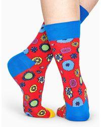 Happy Socks Flower Power Sock - Bleu