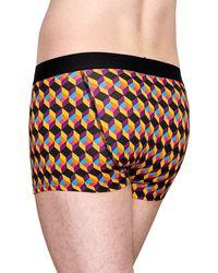 Happy Socks Optic Square Trunk - Meerkleurig