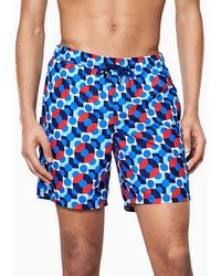 Happy Socks Illusion Dot Long Swim Shorts - Blauw