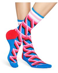 Happy Socks Athletic Sunk Sock - Blauw