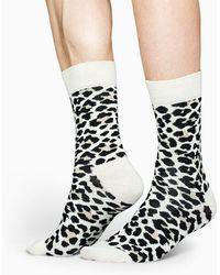 Happy Socks Leopard Sock - Zwart