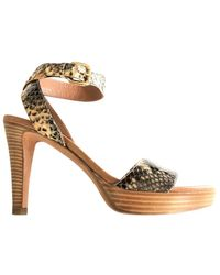Fratelli Rossetti Python-effect Leather Platform Sandals - Multicolour