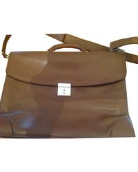 Valextra Briefcase - Brown