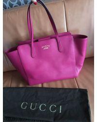 Gucci Swing Large Fuchsia-pink Tote Bag