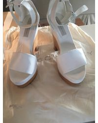 Stella McCartney Lindsey White Faux-leather Wedges