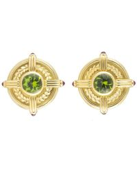 Theo Fennell Yellow Gold Earrings W/ Precious Stones - Metallic