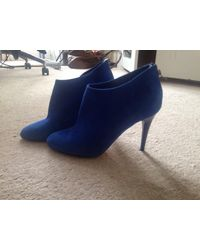Jimmy Choo Mendez Suede Ankle Boots - Blue