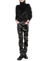 Saint Laurent Mohair Black Roll Neck Jumper