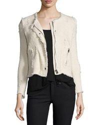 IRO Agnette Bouclé Tweed Jacket - Natural