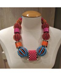 Dyrberg/Kern Beaded Multi-coloured Necklace - Pink