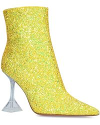 AMINA MUADDI Glitter Giorgia Boots 95 - Yellow