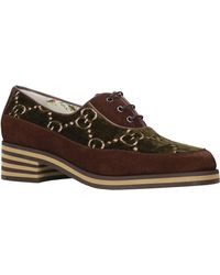 Gucci Leather Thomson Derby Shoes - Brown