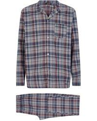 Hanro Check Pyjama Set - Gray