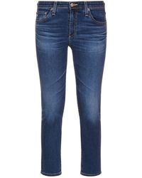 AG Jeans - Prima Cropped Cigarette Jeans - Lyst
