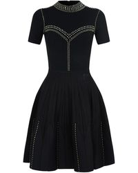 Sandro Stud-embellished Knit Dress - Black
