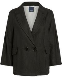 Max Mara Linen-blend Jacket - Black