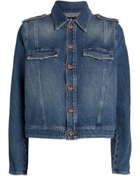 7 For All Mankind Denim Uniform Jacket - Blue