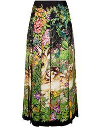 Gucci - Pleated Deer Print Skirt - Lyst