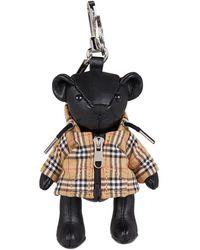 Burberry Check Jacket Thomas Bear Keyring - Black