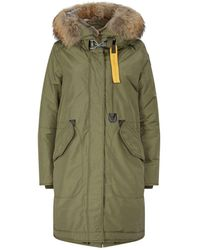 Parajumpers Padded Down Hooded Oxford Parka - Green