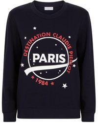Claudie Pierlot Graphic Sweatshirt - Blue