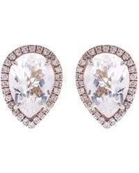 Susan Foster - Diamond And Topaz White Gold Earrings - Lyst