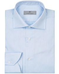 Canali - Cotton Pinstripe Shirt - Lyst