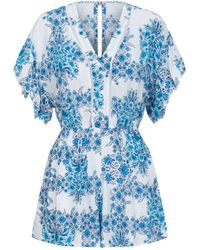 Seafolly - Sunflower Wallpaper Playsuit - Lyst