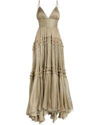 Maria Lucia Hohan Eris V-neck Gown - Grey