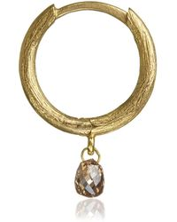 Annoushka - 18ct Gold And Brown Diamond Hoop Earring - Lyst