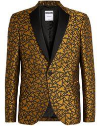 Moschino Geometric Jacquard Blazer - Multicolour