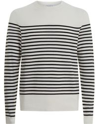 Sandro - Textured Striped Sweater - Lyst
