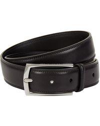 Ralph Lauren Purple Label Leather Belt - Black