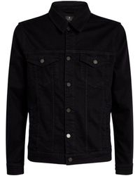7 For All Mankind Luxe Performance Perfect Denim Jacket - Blue