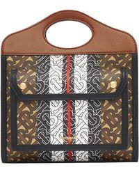 Burberry - Monogram Stripe Print Mini Tote Bag - Lyst