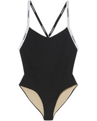 Burberry - Logo-tape Swimsuit - Lyst