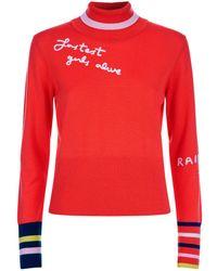 Mira Mikati - Embroidered Turtleneck Sweater - Lyst
