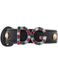 Dolce & Gabbana - Dg Leather Bracelet - Lyst