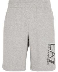 Armani Cotton Logo Sweatshorts - Grey