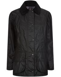 Barbour Beadnell Waxed Jacket - Black