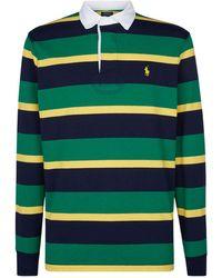 00f852c6 GANT Bar Stripe Rugby Shirt in Green for Men - Lyst
