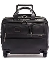 Tumi - Alpha 3 Leather Deluxe 4-wheel Laptop Briefcase - Lyst