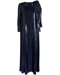 BERNADETTE Sequin-embellished Richard Gown - Blue