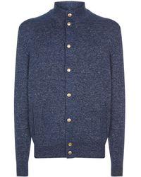 Brunello Cucinelli | Knitted Mock Neck Cardigan | Lyst