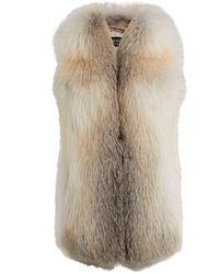 Harrods Fox Fur Gilet - Natural