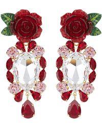 Dolce & Gabbana - Crystal Pendant Earrings - Lyst