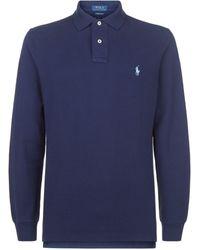 Ralph Lauren Long-sleeved Polo Shirt - Blue
