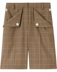 Burberry Wool Check Shorts - Brown
