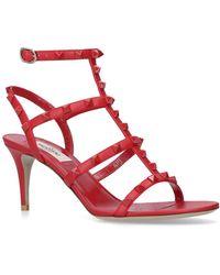 Valentino - Leather Rockstud Gladiator Sandals 70 - Lyst